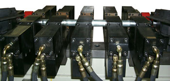 Model 5c Punch Units Mounted in a Transfer Machine
